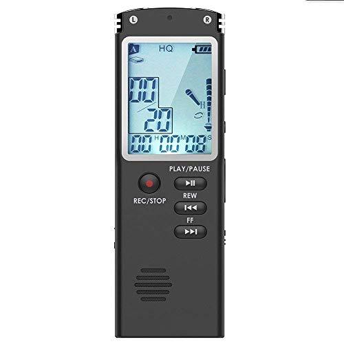 Fulante Voice-Recorder for Vorträge, 1536KBPS Bitrate, 18 Stunden Daueraufzeichnung, MP3-Wiedergabe, WMA Automatische Speicherung for Konferenzschlafsaal Arbeitszimmer Schule (Size : 4GB)