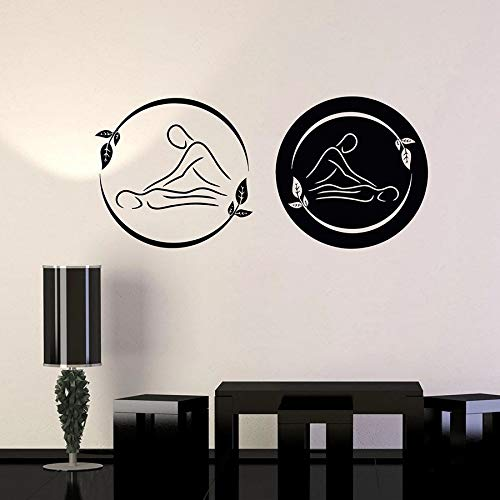 WERWN Masaje Pared calcomanía SPA Belleza Logo Relajante Cuerpo decoración Interior Vinilo Ventana Pegatina Hoja Arte Mural