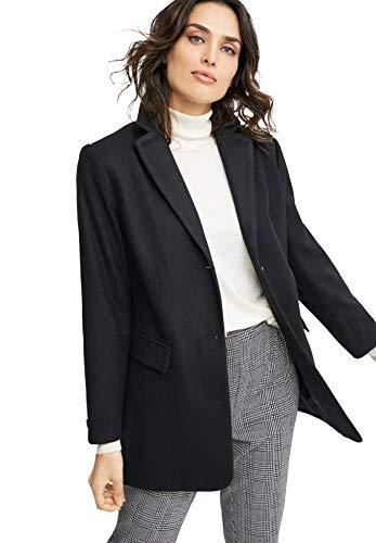 ellos Women's Plus Size Long Wool Blend Blazer - 24, Black