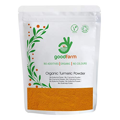 GoodFarm Organic Turmeric Powder 500g - Premium Quality, Certified Organic | Vegan | Ayurveda | Superior aroma & taste | Anti-inflammatory & other health benefits,GFTURM000500P0