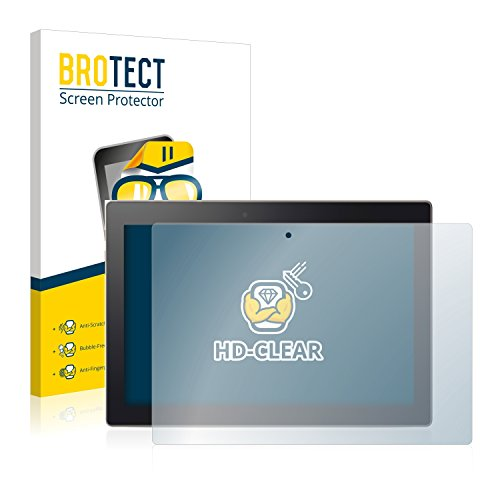 BROTECT Schutzfolie kompatibel mit Lenovo Tab 3 10 Plus (2 Stück) klare Bildschirmschutz-Folie