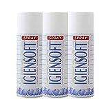 Rampi Tris Deo Igiensoft - Desodorante higienizante profesional para tejidos, interiores, cajones, zapatos, armario, gimnasio, lavandería, 3 x 400 ml
