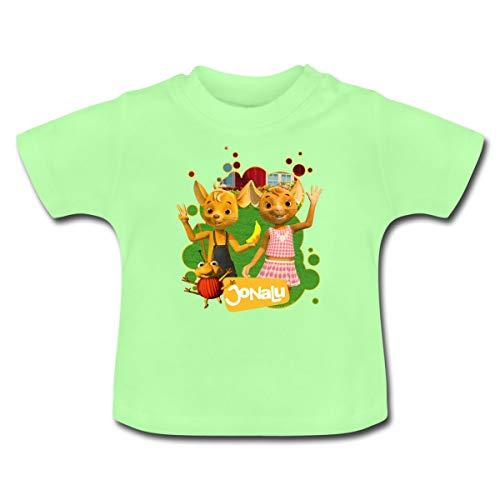 JoNaLu Jo Naya Und Lu Winken Fröhlich Baby T-Shirt, 18-24 Monate, Mintgrün