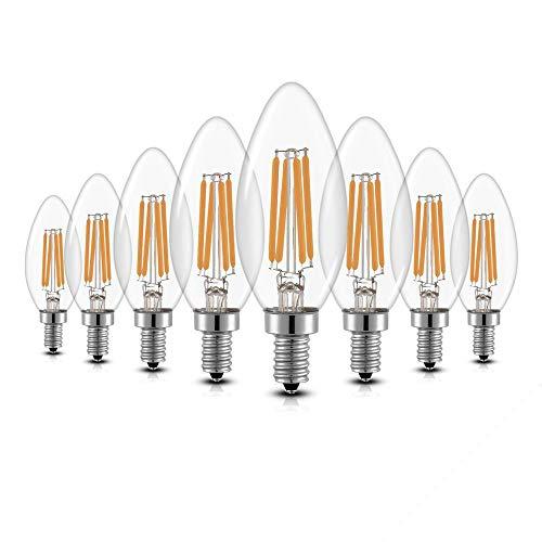 8er Pack LED Lampe E14 Glühbirne 4W dimmbare lampe, iGOKU filament E14 led Glühfaden Warmweiß leuchte led Birne, 360°Abstrahlwinkel LED birne 40W Entspricht Edison Lampe, 450 Lumen 2700K A++