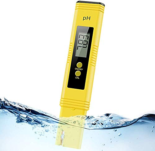 Digital pH Meter, Water PH Test Meter with 0.00-14.00ph Measure Range/PH Meter with ATC,Water Quality Tester for Household Drinking Water, Swimming Pools, Aquariums,Hydroponics