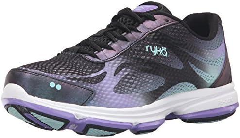 Ryka Women's, Devotion Plus 2 Walking Sneakers Black Purple 12 M