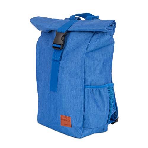 LUUK LIFESTYLE Waterafstotende roll-top rugzak, vintage rugzak, stadsrugzak, dagrugzak, schoolrugzak, dagrugzak voor studenten, reizen, laptop, groen, marine, blauw, zwart, roze, grijs