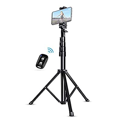 "Selfie Stick Tripod, UBeesize 51"" Extendable Tripod Stand with Bluetooth Remote for iPhone & Android Phone by UBeesize"