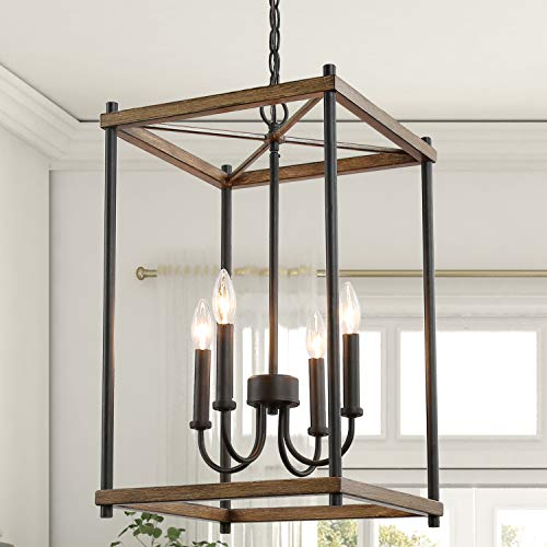 "KSANA Farmhouse Foyer Lighting, Entryway Chandeliers for Dining Rooms, Kitchen Island, Foyer, Stairway, W14""xH23.5"""