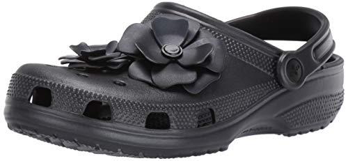 Crocs Unisex Classic Vivid Blooms U Clogs, Schwarz (Black 001), 37/38 EU