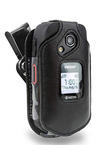 Kyocera DuraXE and DuraXV LTE Case (E4710 & E4610), Wireless ProTECH Genuine Leather Case with D-Ring Swivel Belt Clip, for Kyocera DuraXE and DuraXV LTE