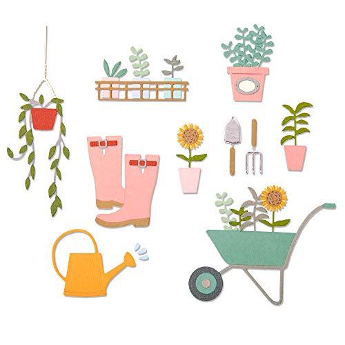Sizzix Thinlits Stanzschablonen 23 Stk 664379 Gartenschuppen von Sophie Guilar, Mehrfarben, Einheitsgröße