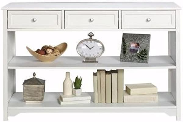 Oxford 3 Drawer Console Table In White Look Great Against A Wall In An Entryway Or Behind A Sofa