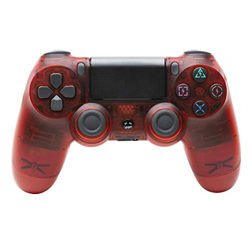 GSYX Controlador inalámbrico para Playstation 4 Transparent Red