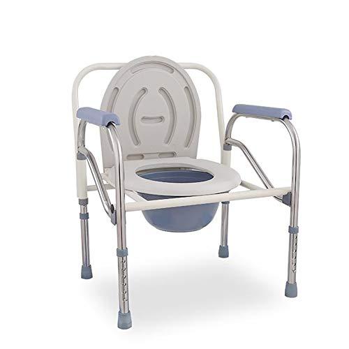 RAXST Fahrbarer Toilettenstuhl Fahrbar als Toilettenstuhl und sicheren Toilettenrahmen Nachtstuhl Höhenverstellbar mit Rückenlehneund antirutschenden WC-Stuhl für Erwachsene Handicap Senioren