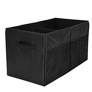 MaidMAX Trunk Organizer for Car and SUV with Two Handles and Side Pockets, Foldable, Black