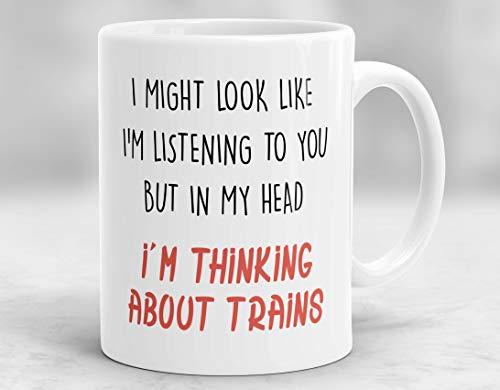 N\A Taza Podría parecer Que 'te Estoy Escuchando, Pero en mi Cabeza' Estoy Pensando en Trenes