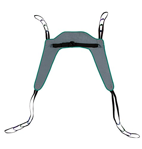 Patient Aid Toileting Patient Lift Sling, with Belt, Size Medium, 450lb Weight Capacity