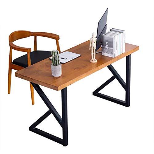 MDEPYCO Rustikale Möbelbeine, moderne robuste Metall-Schreibtischbeine, Couchtischbeine, Esstischbeine, DIY-Halterungen, Bankbeine – 71,1 cm H x 50 cm B, K-Form (nur Beine ohne Brett)