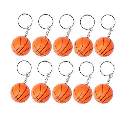 Abaodam 10 llaveros de baloncesto de espuma para deportes de fútbol, llavero con colgante de bolas para bolsa de coche, fiestas, regalos de escuela, carnaval, recompensa para fiestas, bolsas de regalo