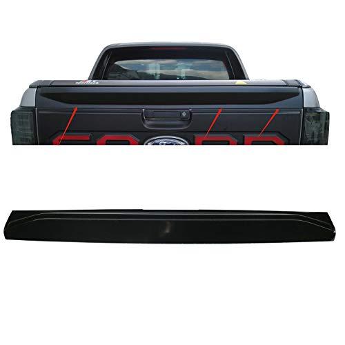 JHCHAN Passform Heckklappen Schutzleiste ABS Black Ladekantenschutz Abdeckung für Ford Ranger 2012-2020 T6 T7 T8 Wildtrak XL XLT Stoßstangenschutz Anti Scratch Abdeckung Autospoiler