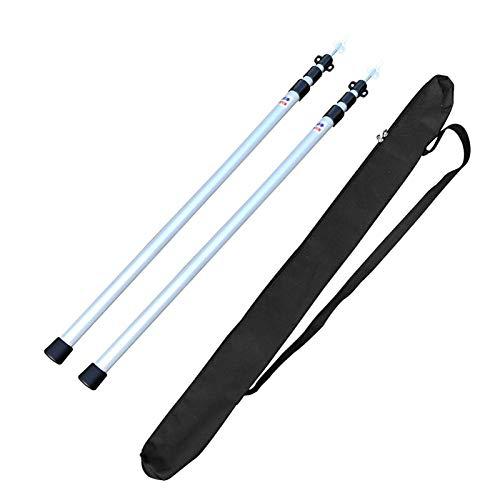 Varillas telescópicas de aluminio para tiendas de campaña, portátil, ligeras, para lonas, toldos Vera Nda