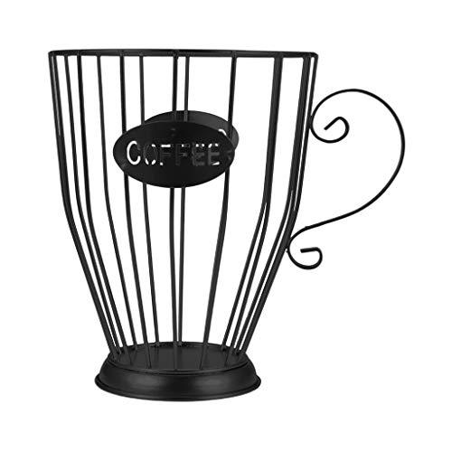 Generic Eisen Kaffee Pod Lagerung, Große Kapazität Kaffee Kapsel Halter Korb, K Tasse Kaffee & Kaffee Kapsel Organizer für Home Küche Wohnzimmer - Schwarz