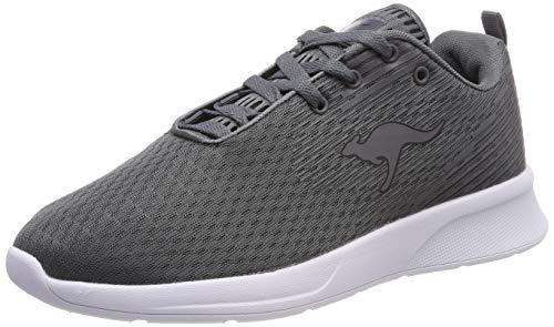 KangaROOS Unisex-Erwachsene KF-A Act Sneaker, Grau (Steel Grey/Jet Black 2019), 42 EU