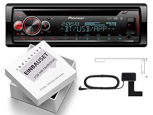 Pioneer DEH-S720DAB 1-DIN autoradio incl. DAB-antenne met Bluetooth geschikt voor Mercedes E-Klasse W211, S211 2002-2009 zwart