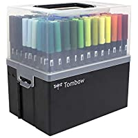 Tombow 108 Piece Dual Brush Pen Set in Marker Case