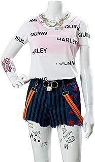 ハロウィン クリスマス コスプレ Harley Quinn ハーレイ クイン コスプレ 衣装 (オーダーメイド)