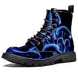 setas digitales, Los hombres con estilo de la parte superior alta botas de senderismo botas de cuero duradero impermeable y antideslizante botas de ante forro casual suave y cálido, color, talla 44 EU
