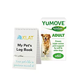 Yumove Lintbells Dog Joint Supplement for Stiff and Older Dogs + Pet Notebook