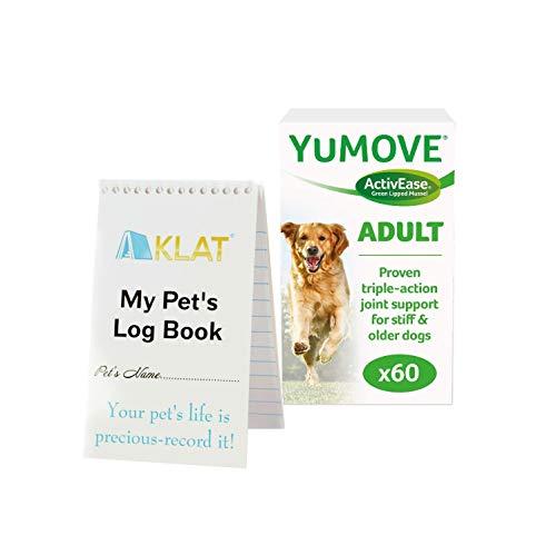 Yumove Lintbells Dog Joint Supplement (60 Tablets) + AKLAT Pet Notebook