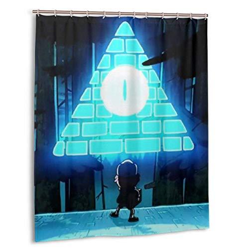 Meili Duschvorhang mit Haken Waschbare wasserdichte Badezimmerdekorationen für Badezimmerduschen 60x72in