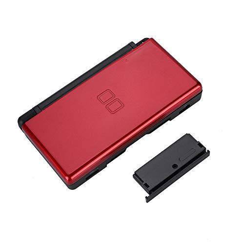 Ersatz Full Housing Console Spiel Shell Case Cover Back Ersatzteile für Nintendo DS Lite NDSL-System, Stoßdämpfung und Anti-Scratch-Design(Red)