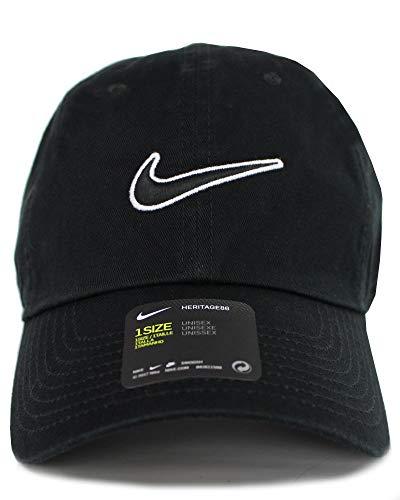 ナイキ(NIKE) H86 SWOOSH CAP スウォッシュ ロゴ キャップ 帽子 メンズ レディース Heritage86 (ブラック) [並行輸入品]