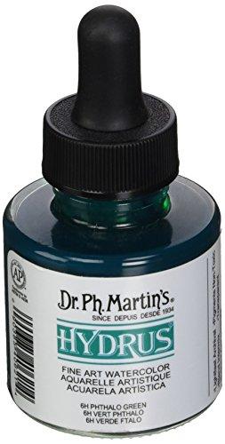 Dr. Ph. Martin's Hydrus Fine Art Watercolor, 1.0 oz, Phthalo Green
