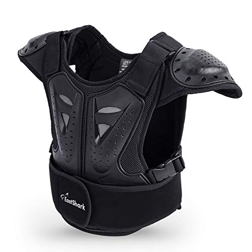 "Seahouse Kids Dirt Chest Spine Protector Body Protective Vest Gear for Bike Motocross Snowboarding Skiing+1pc Random bandana (L for height 51""-57"")"