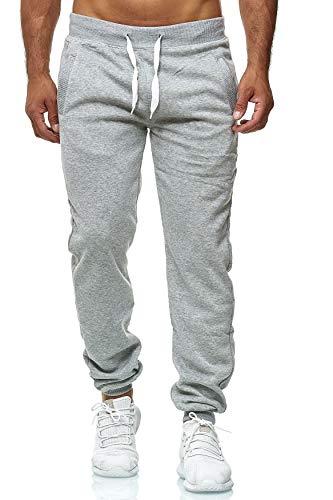 Hidyliu Mens Drawstring Running Joggers Elastic Waist Sweats Pants Cuffed Bottom Workout Sweatpants with Pockets (Light Grey Joggers Sweatpants, XL)