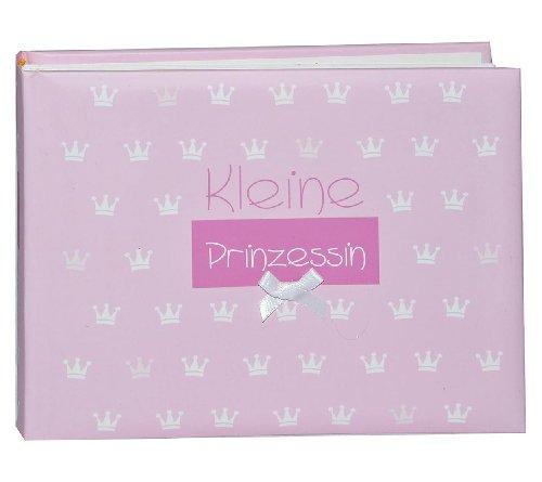 alles-meine.de GmbH Fotoalbum - Baby erste Fotos -  Kleine Prinzessin  - Gebunden zum Einkleben blanko - klein für bis zu 36 Bilder - Fotobuch / Photoalbum / Babyalbum / Album ..