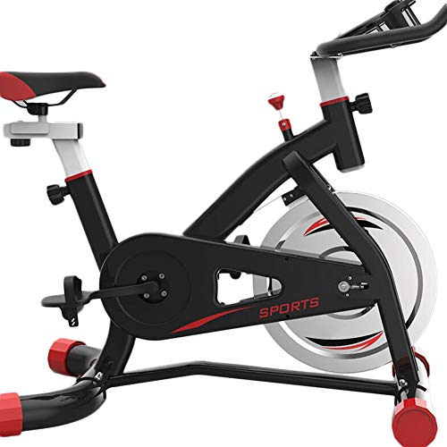 %23 OFF! KeMibiss Indoor Adjustable Resistance Bands Exercise Bike,Mute Belt Drive Spinning Bicycle,with Phone Holder Fitness Bike for Training Cardio Black