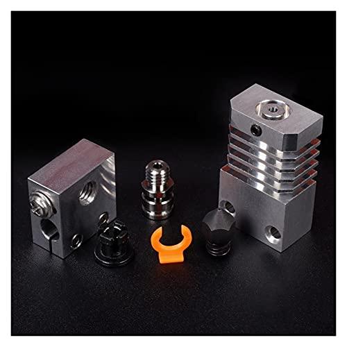 Durable CR10S for PRO for Hotend for Swiss MK8 Hardened Steel Nozzle Heatsink Titanium Block Heat Break 3D Printer Upgrade Kit for CR-10S for PRO for Printe Office Supplies