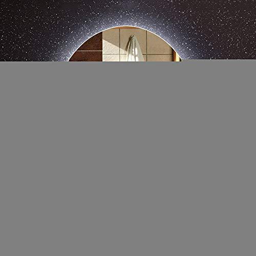 Flashing lights LED-badkamerspiegel zonder lijst met glanzende spiegel voor aan de muur.