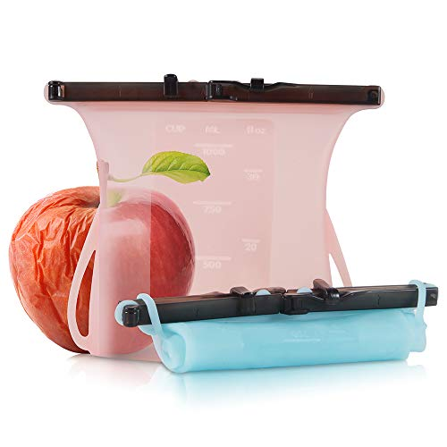 Bolsas reutilizables silicona almacenamiento alimentos,contenedores