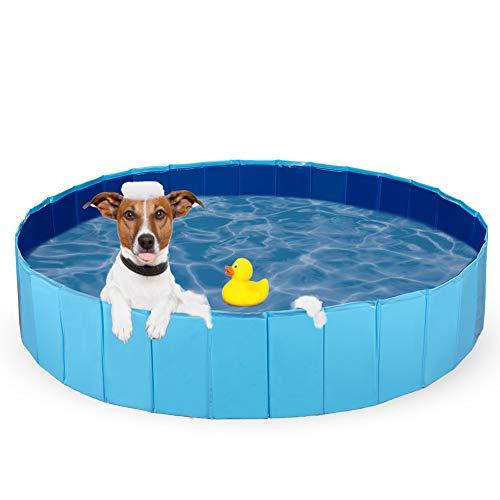 Dono Hundepool Schwimmbad Für Hunde und Katzen Swimmingpool Hund Planschbecken Hundebadewanne Faltbarer Pool PVC rutschfest (120cm(Dia) x 30cm(H))