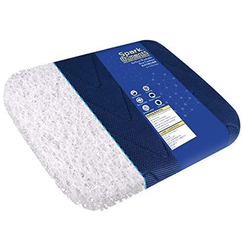 Seat Cushion for Home Office Chair, Breathable Washable,Airfiber 3D high Polymer Tailbone Cushion,Coccyx Cushion,Sciatica Cushion-17 x13 x 2.0 inches (Blue)