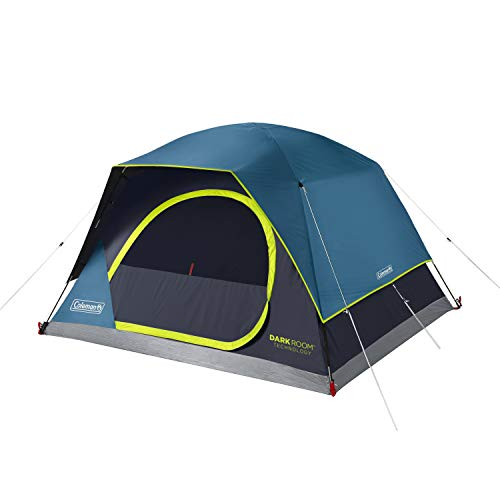 Coleman 4-Person Dark Room Skydome Camping Tent, Blue
