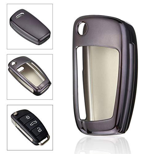Auto Kluczowa ochrona Pokrowiec Obudowa Uchwyt samochodowy Shell Samochód Stylizacja TPU Car Styling Soft TPU (Color Name : Black)