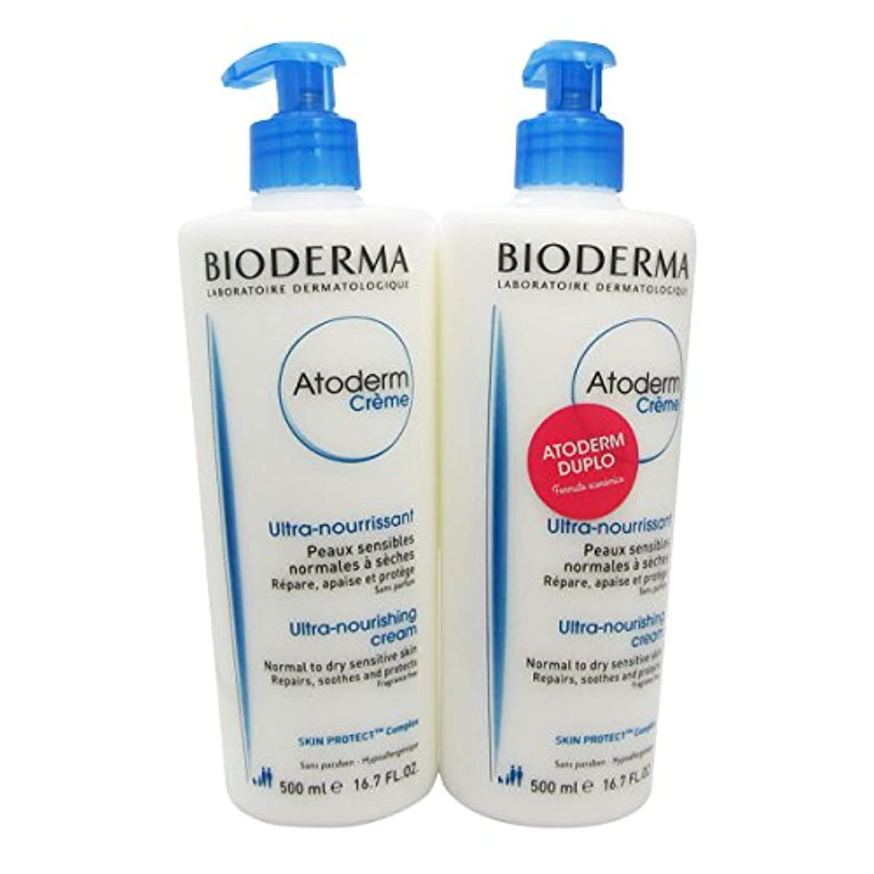 換気成人期厳密にBioderma Atoderm Nourishing Cream 2x500ml [並行輸入品]